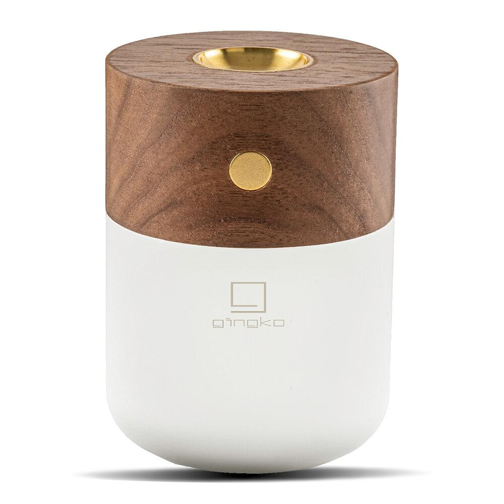 Gingko Smart Diffuser Lamp Walnut
