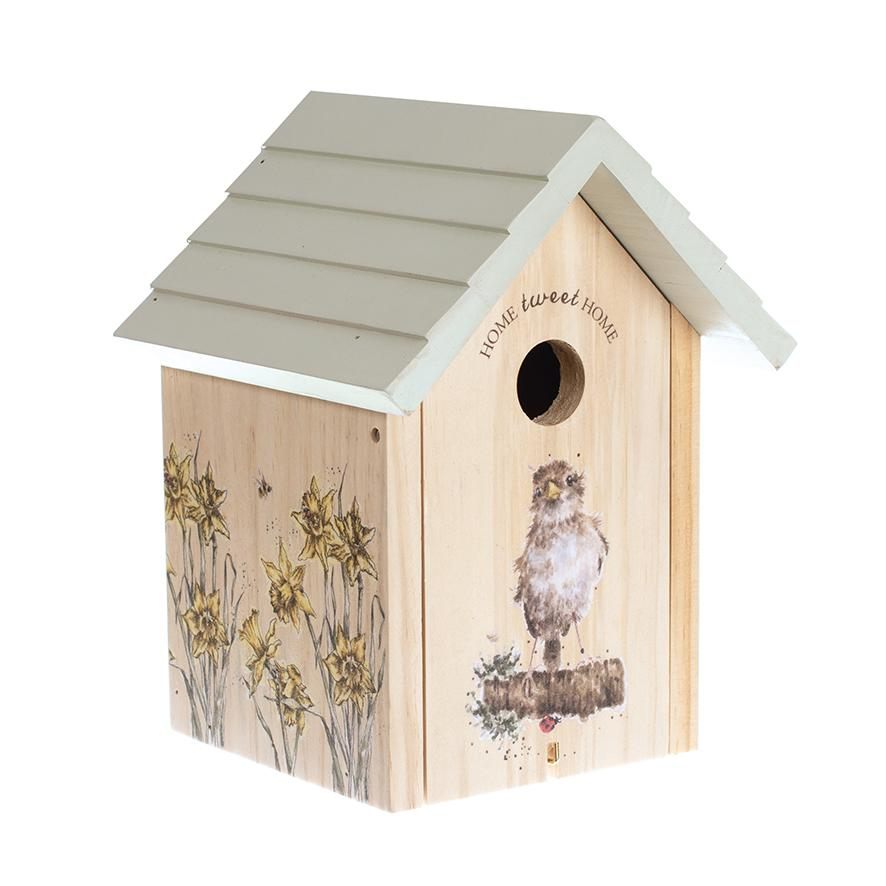 Wrendale Designs Bird house, sparrow - front