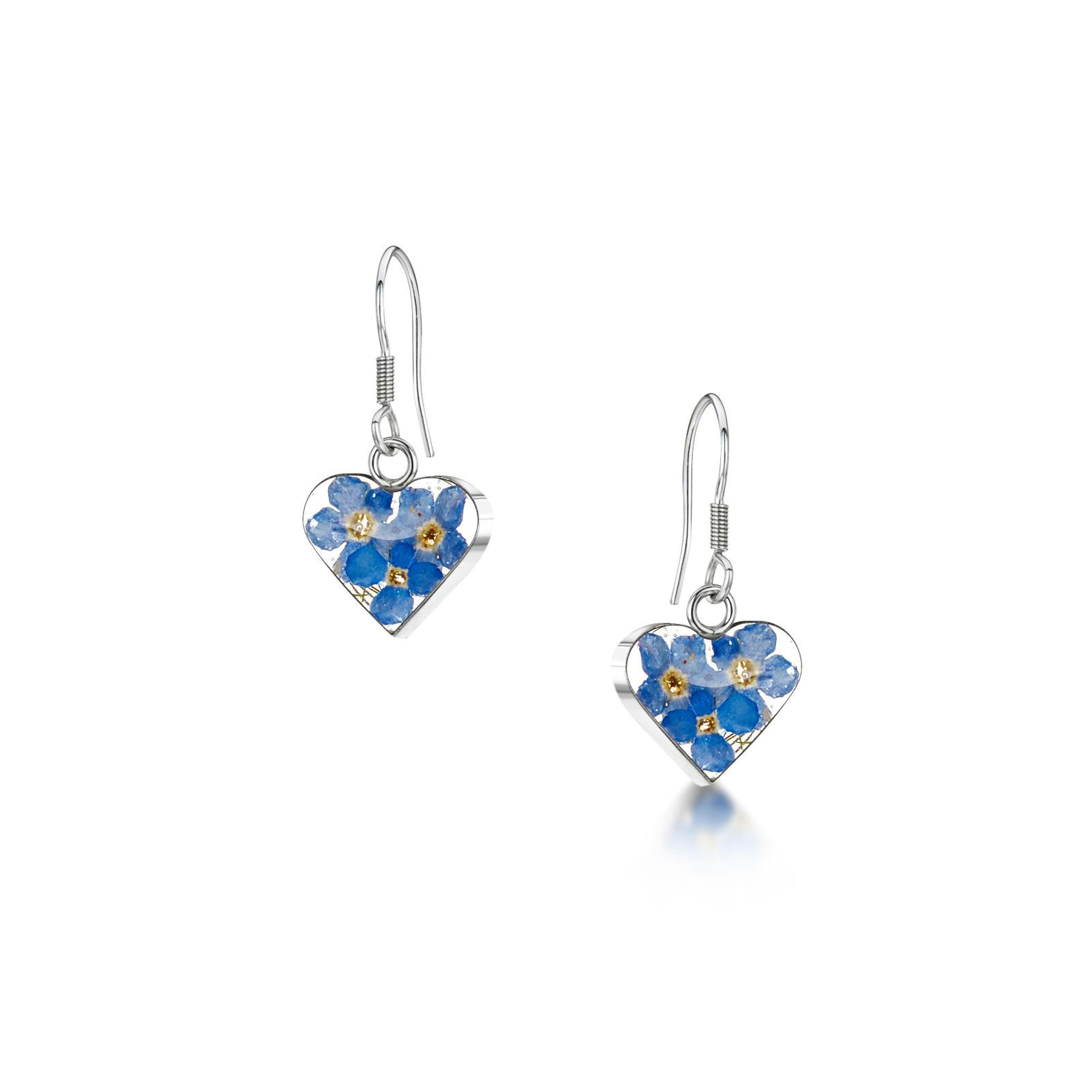 FLOWER HEART EARRINGS