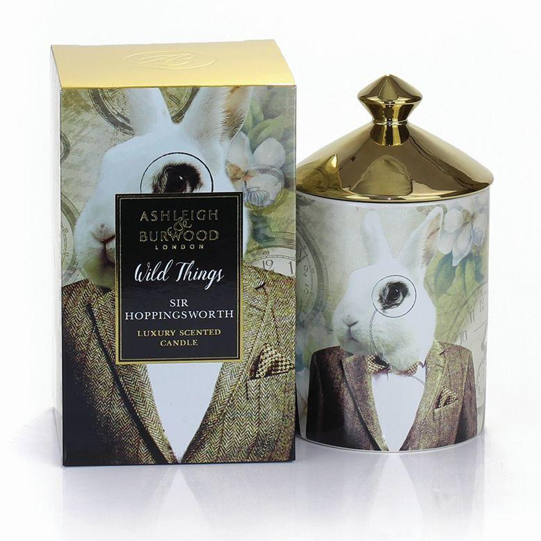 WILD THINGS CANDLE 320g - SIR HOPPINGSWORTH - COGNAC & LEATHER