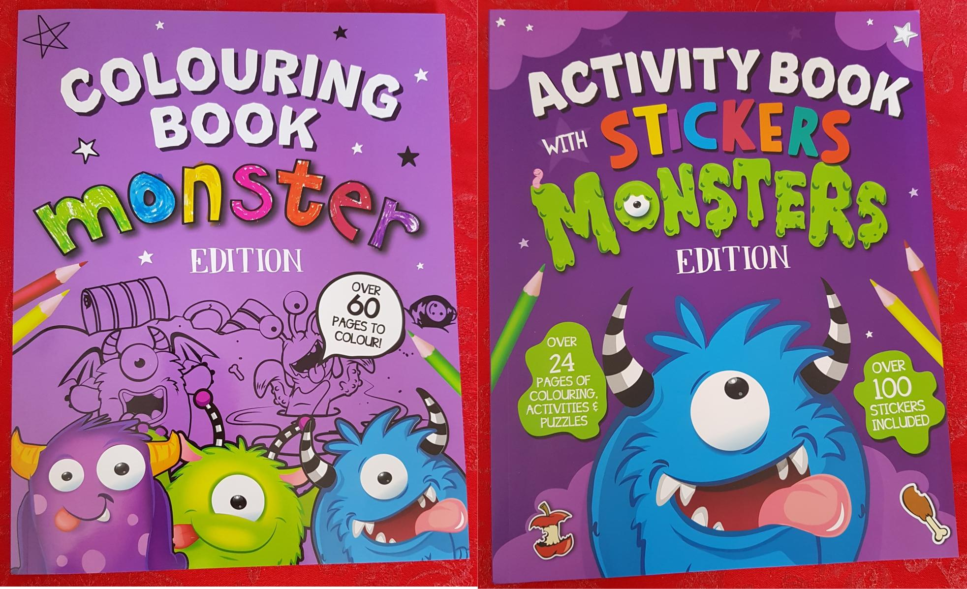 Monster Colouring and Sticker Books