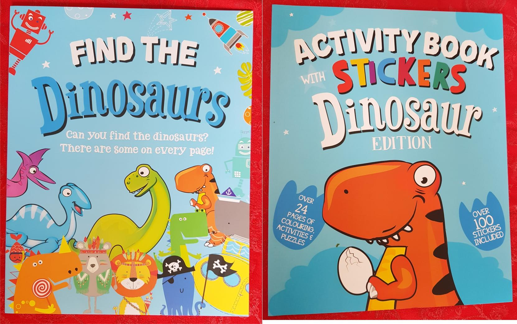 Dinosaur Activity and Sticker Books