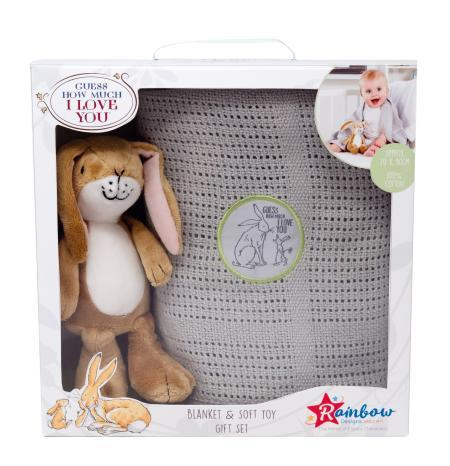 Guess how much I love you blanket and soft toy gift set in box