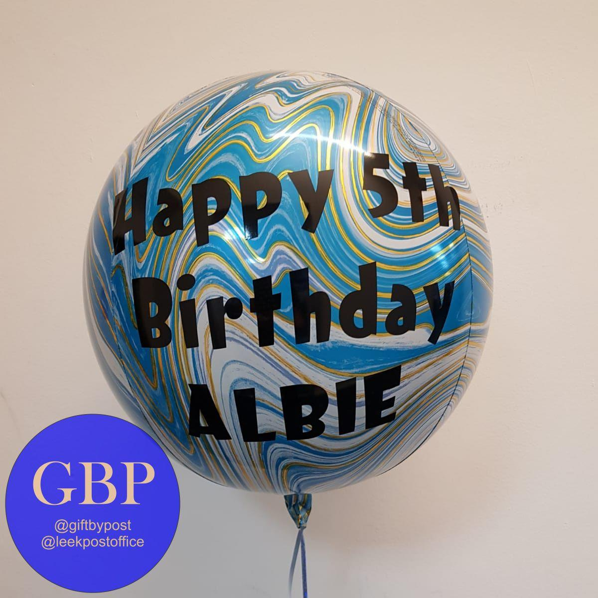 Blue Marble Orbz Balloon Personalised