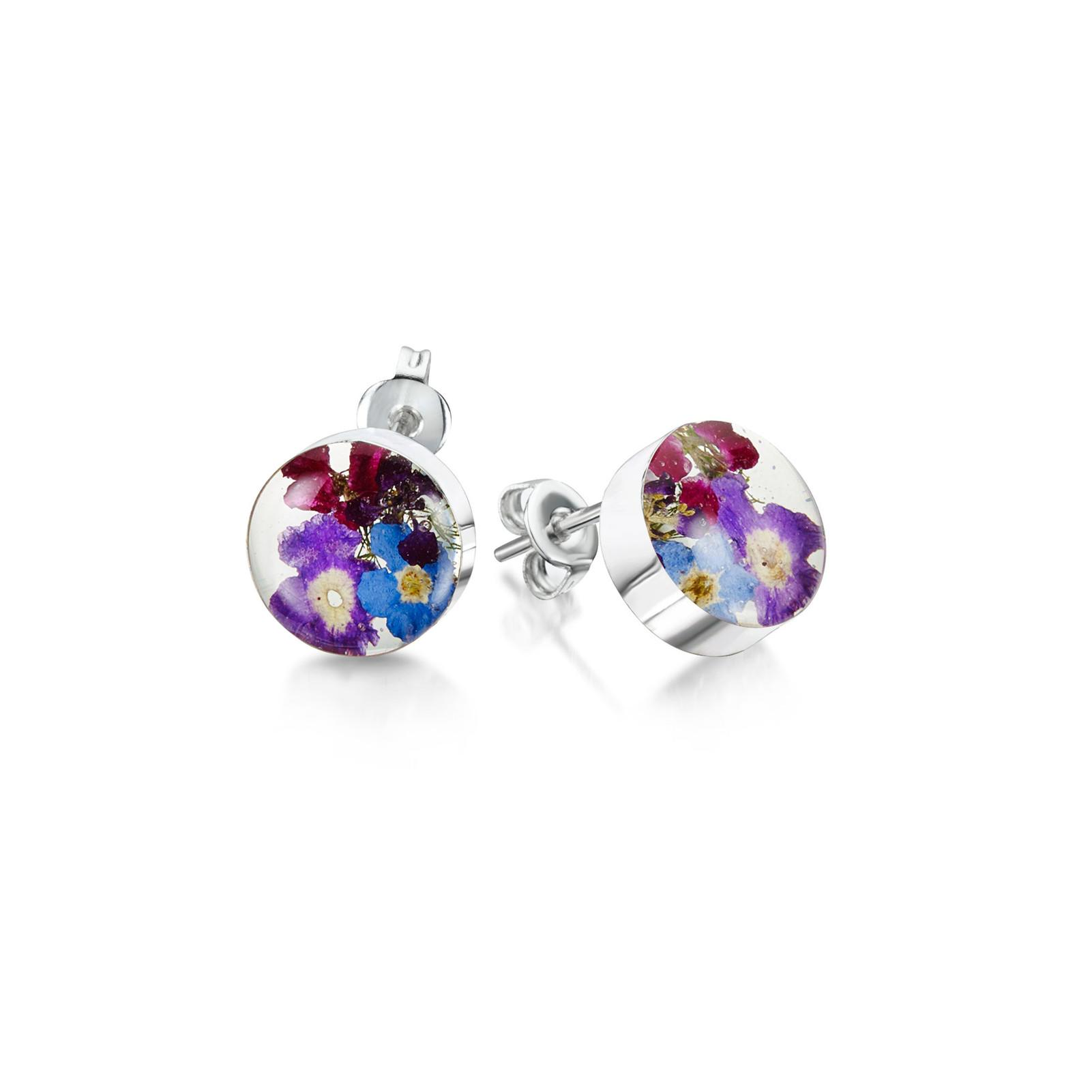 PURPLE HAZE STUD EARRINGS