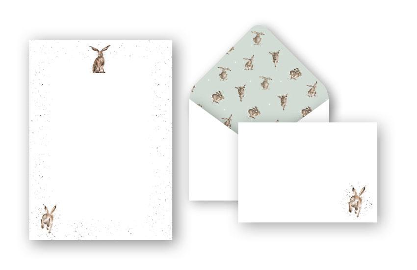 WRENDALE WRITING SET - HARE FRONT