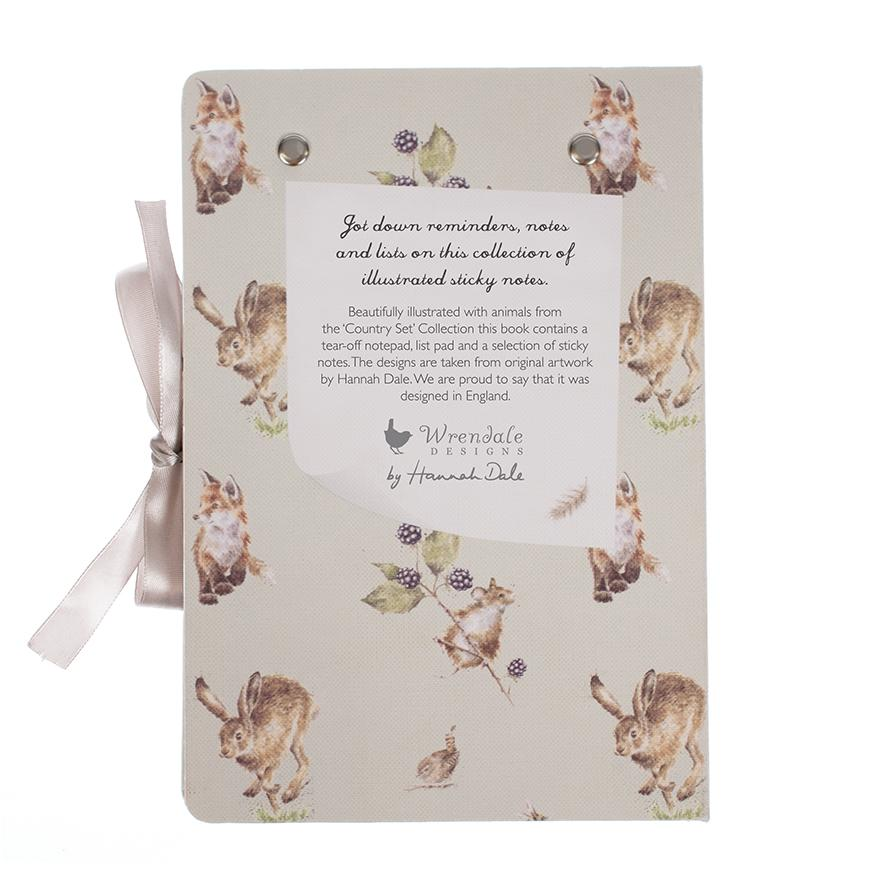 WRENDALE STICKY NOTES BOOK - COUNTRY BACK