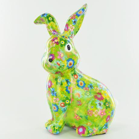 Helena the rabbit money box green
