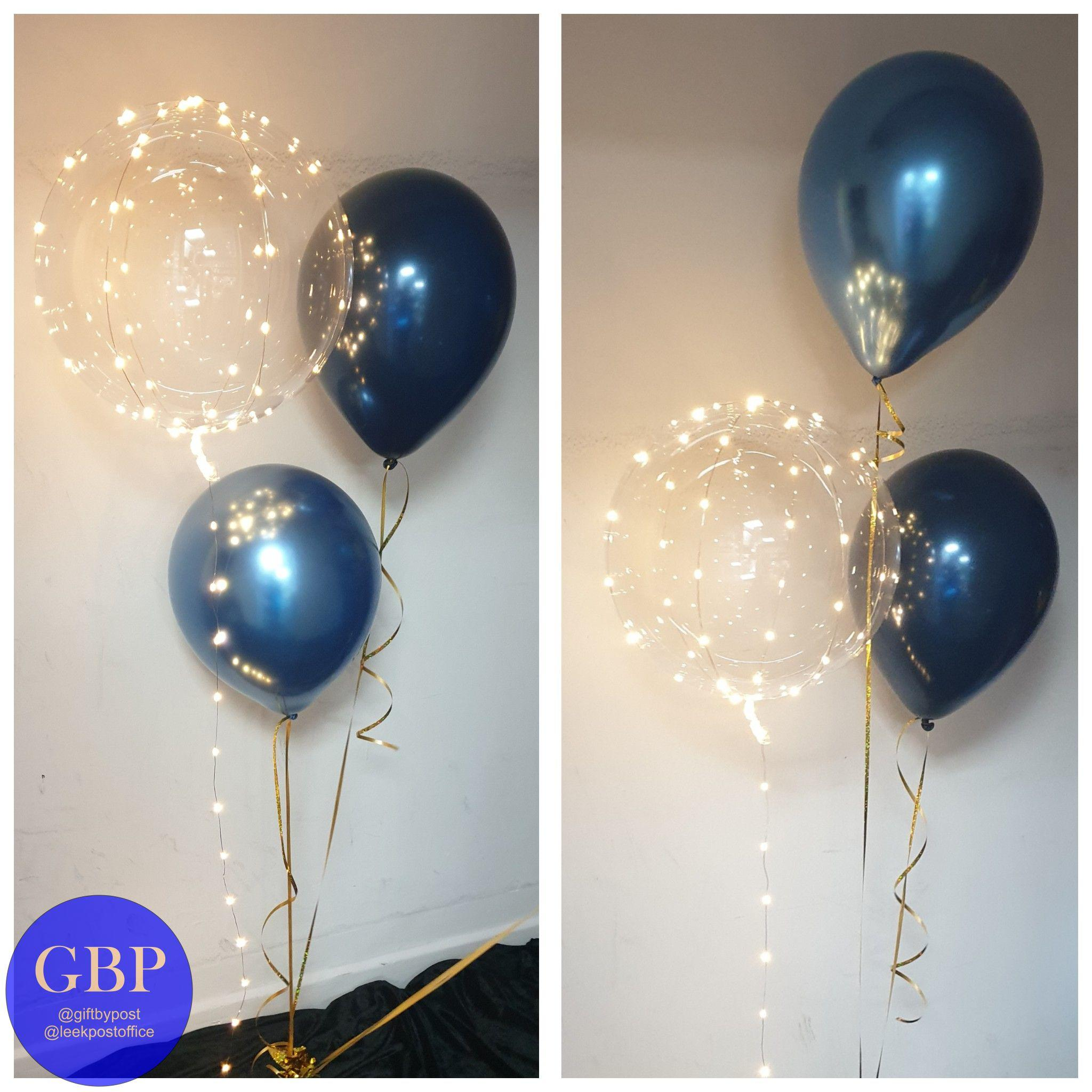 LED bouquet, 1 LED and 2 latex balloons