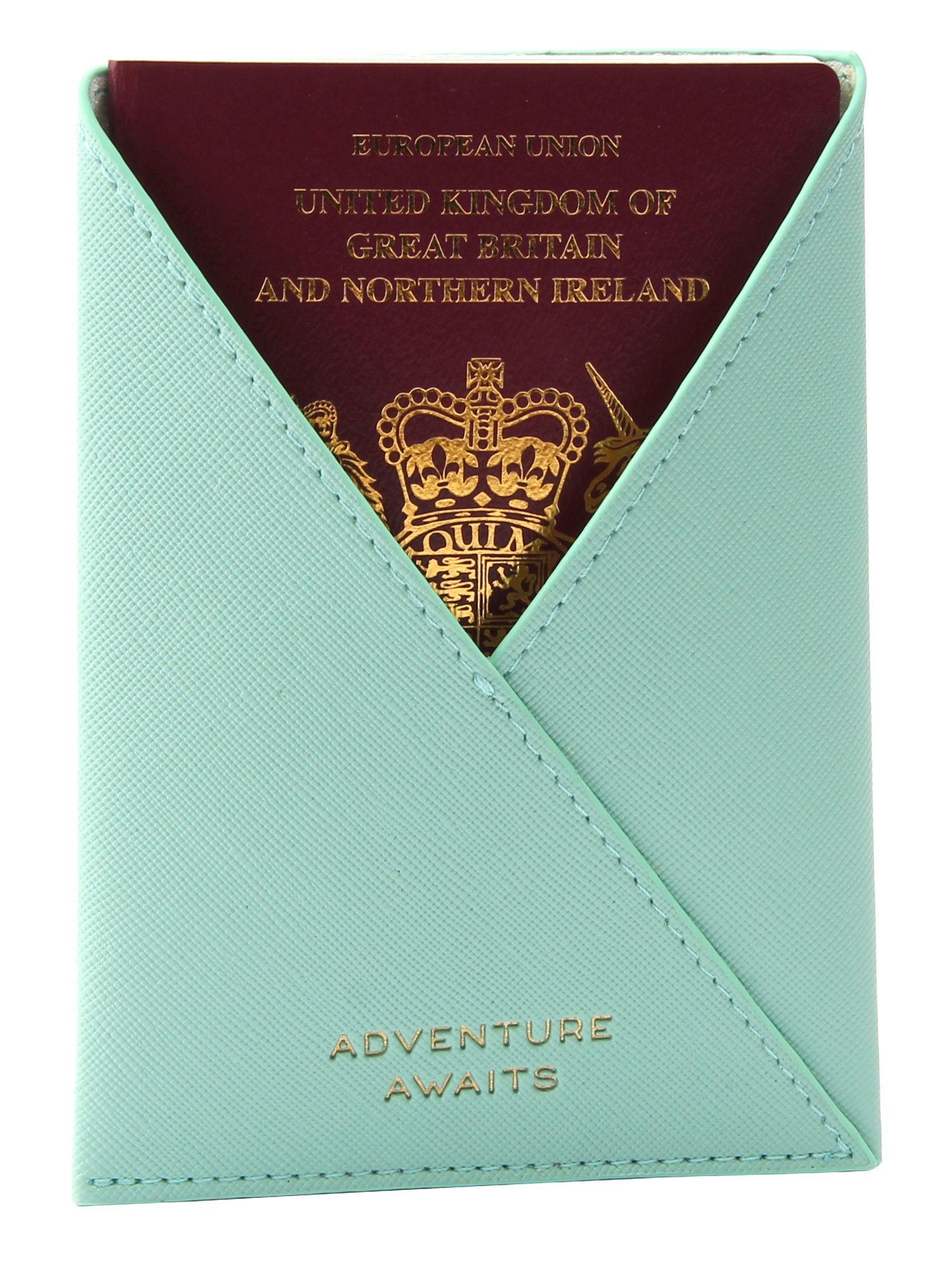 Mint Passport Holder with Passport