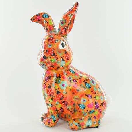 Helena the rabbit money box orange