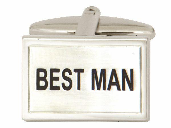 Best Man Cufflinks Close Up