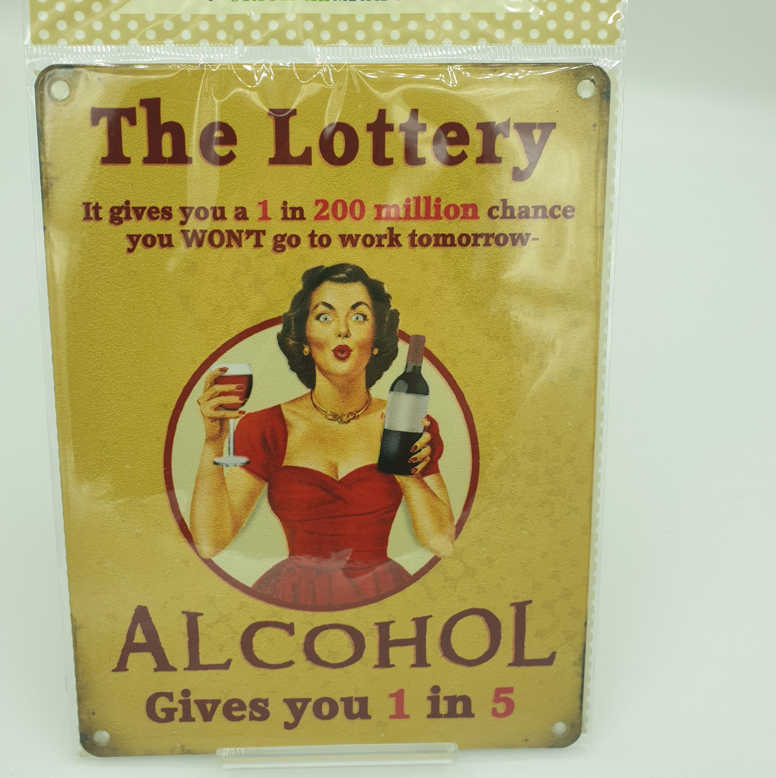 Metal Sign The Lottery