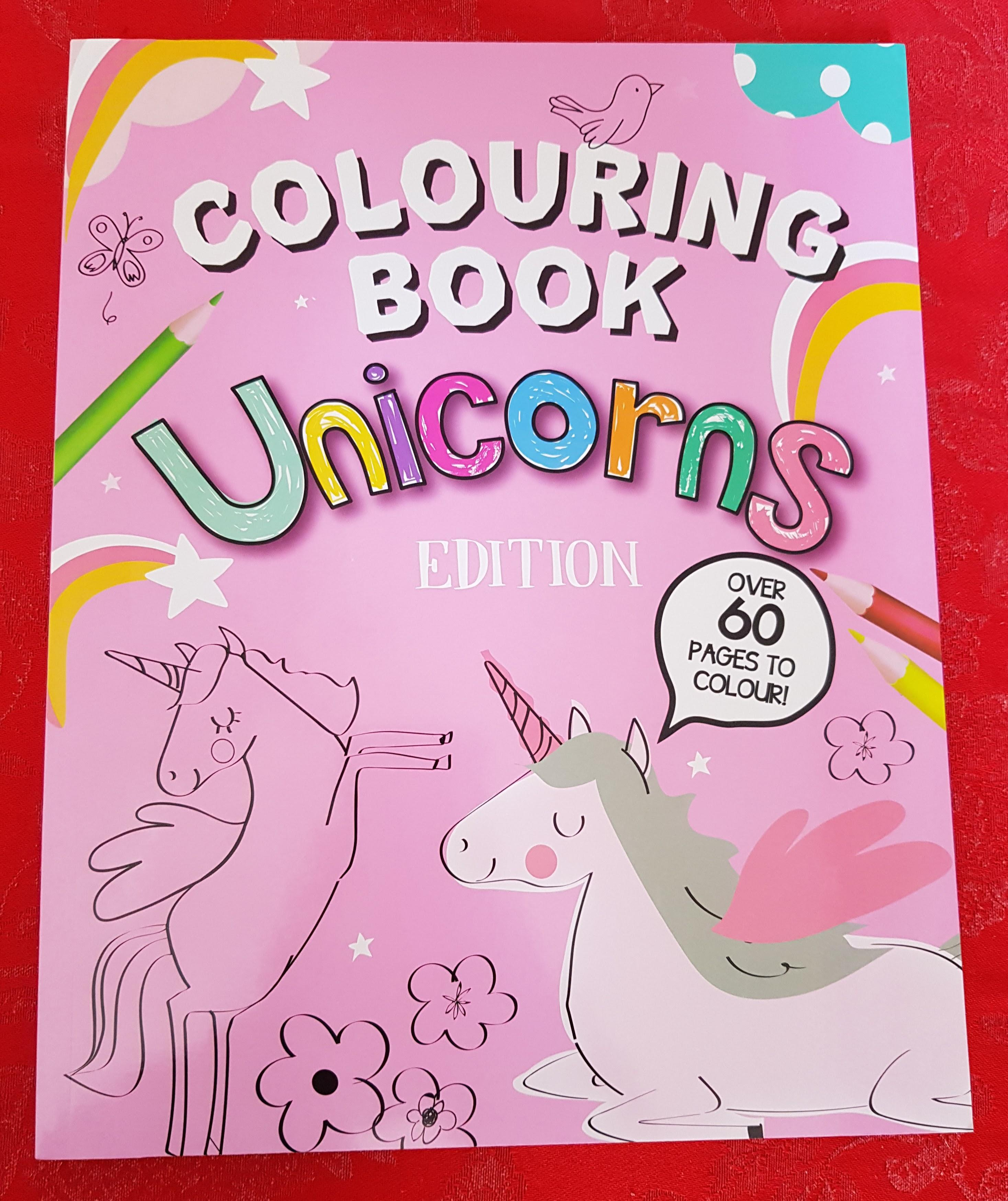 Unicorn Colouring Book Front Cover