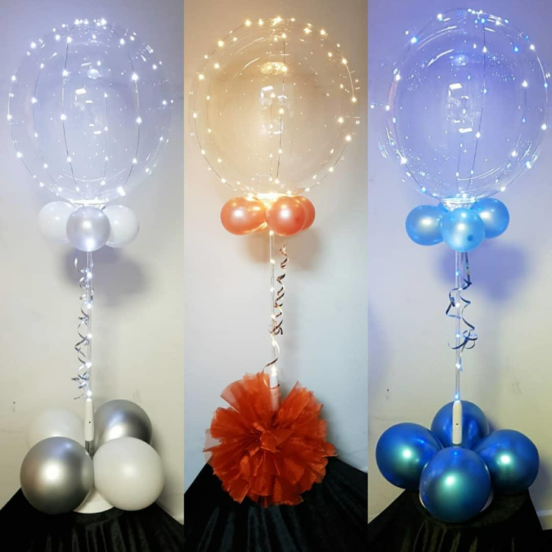 Clear, LED Balloons