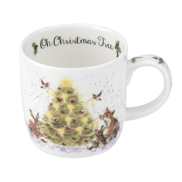 Wrendale Portmeirion Royal Worcester Christmas Mug Christmas Tree