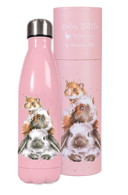 Wrendale Water Bottle and Flask Rabbit Guinea Pig Hamster Piggy in the Middle
