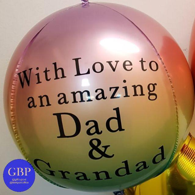 Ombre Orbz Balloon Personalised Pastel 2
