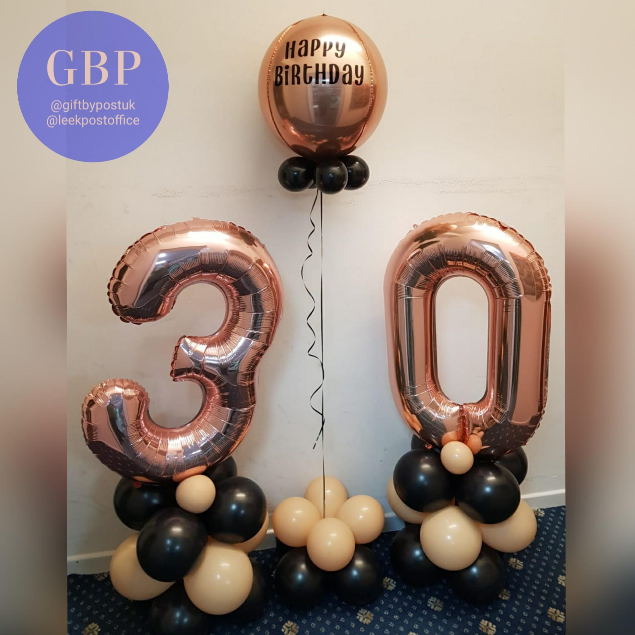 Balloon package 2, large numbers and personalised orbz
