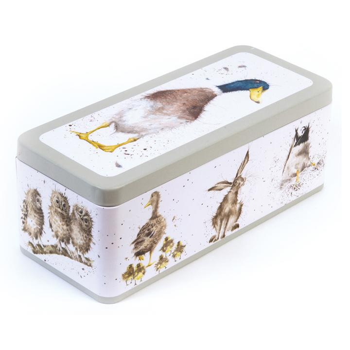 WRENDALE CRACKER TIN - WILDLIFE FRONT