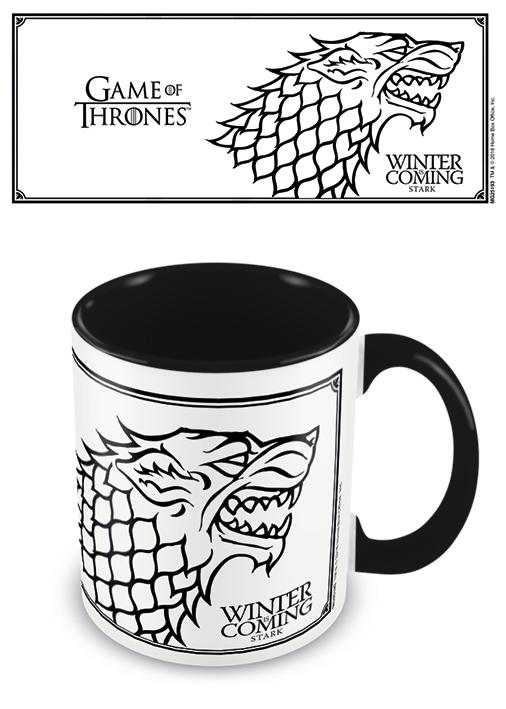 GAME OF THRONES STARK BLACK MUG