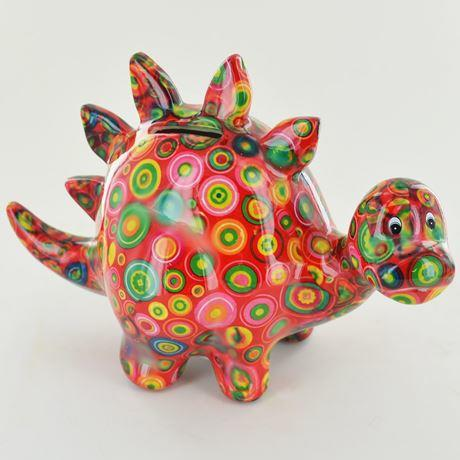 redzorc the dinosaur money box red