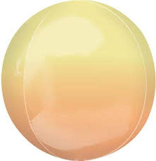 Ombre Orbz Balloon Yellow and Orange