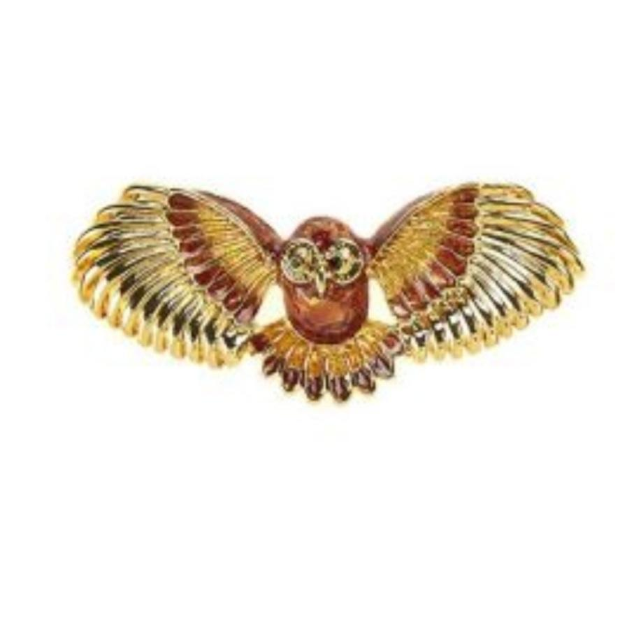 Flying Owl Brooch Owl