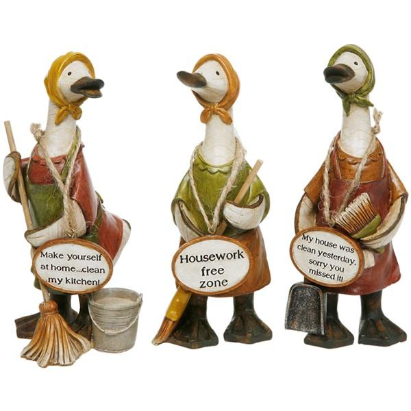 Mrs Mop Duck ornaments