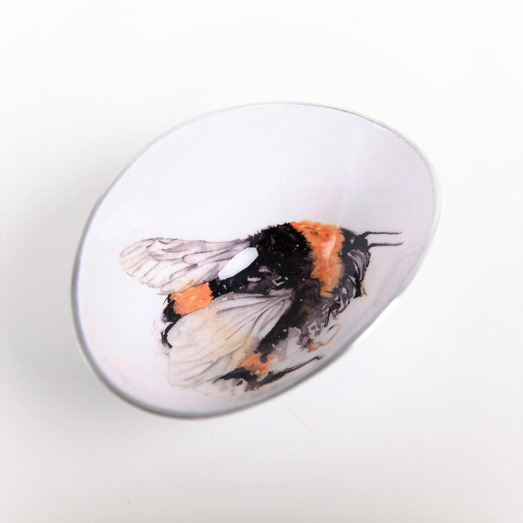 bee oval bowl fair trade tilner art
