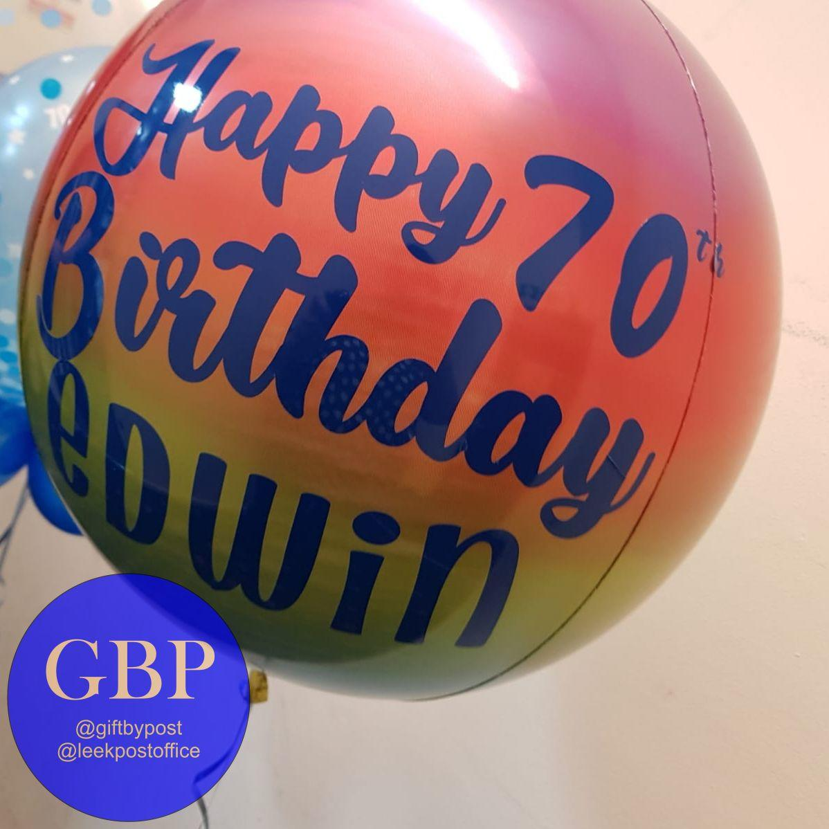 Ombre Orbz Balloon Personalised Bold