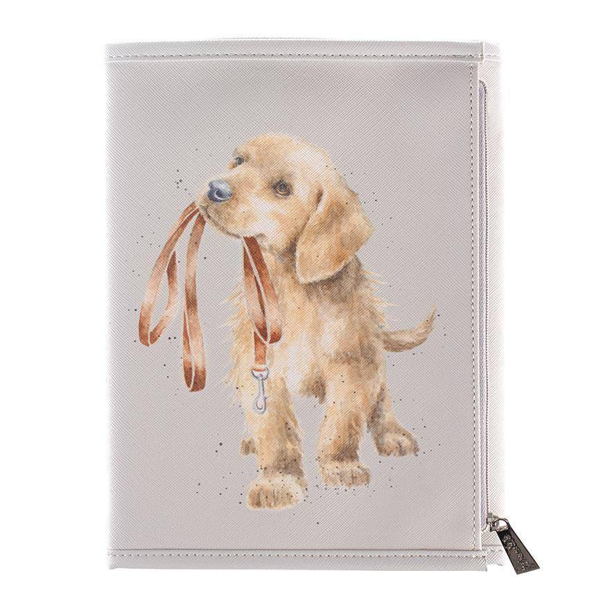 dog notebook wallet wrendale