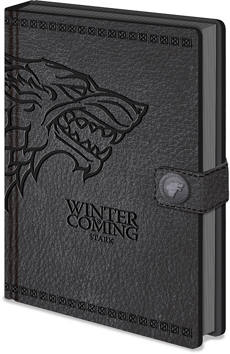 GAME OF THRONES STARK NOTEBOOK FRONT COVER
