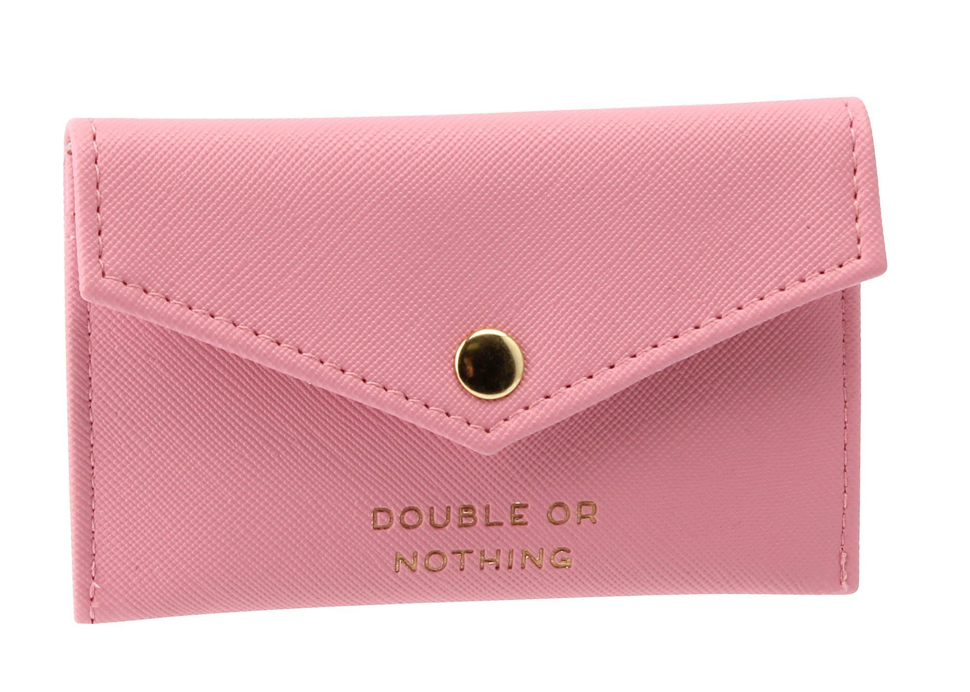CANDY PINK ENVELOPE PURSE FRONT