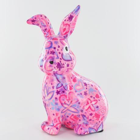 Helena the rabbit money box pink