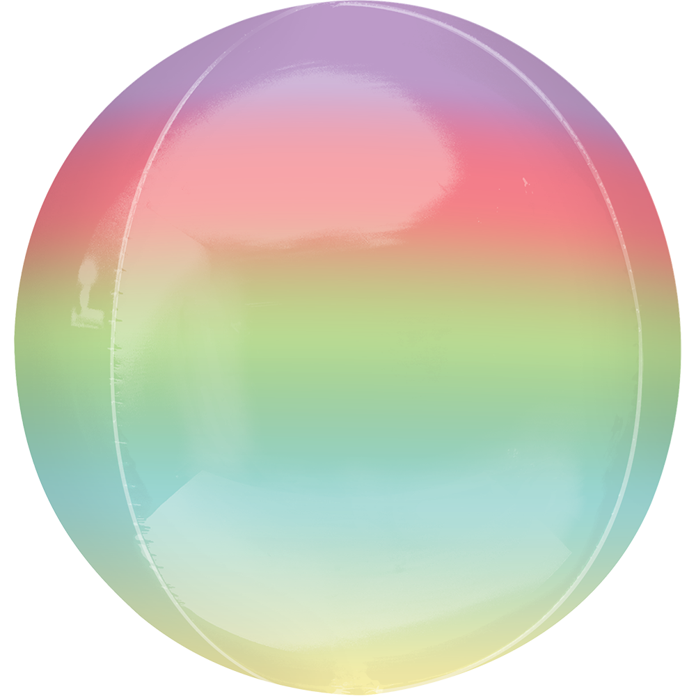 Ombre Orbz Balloon Rainbow, Purple, Pink, Green, Blue, Yellow