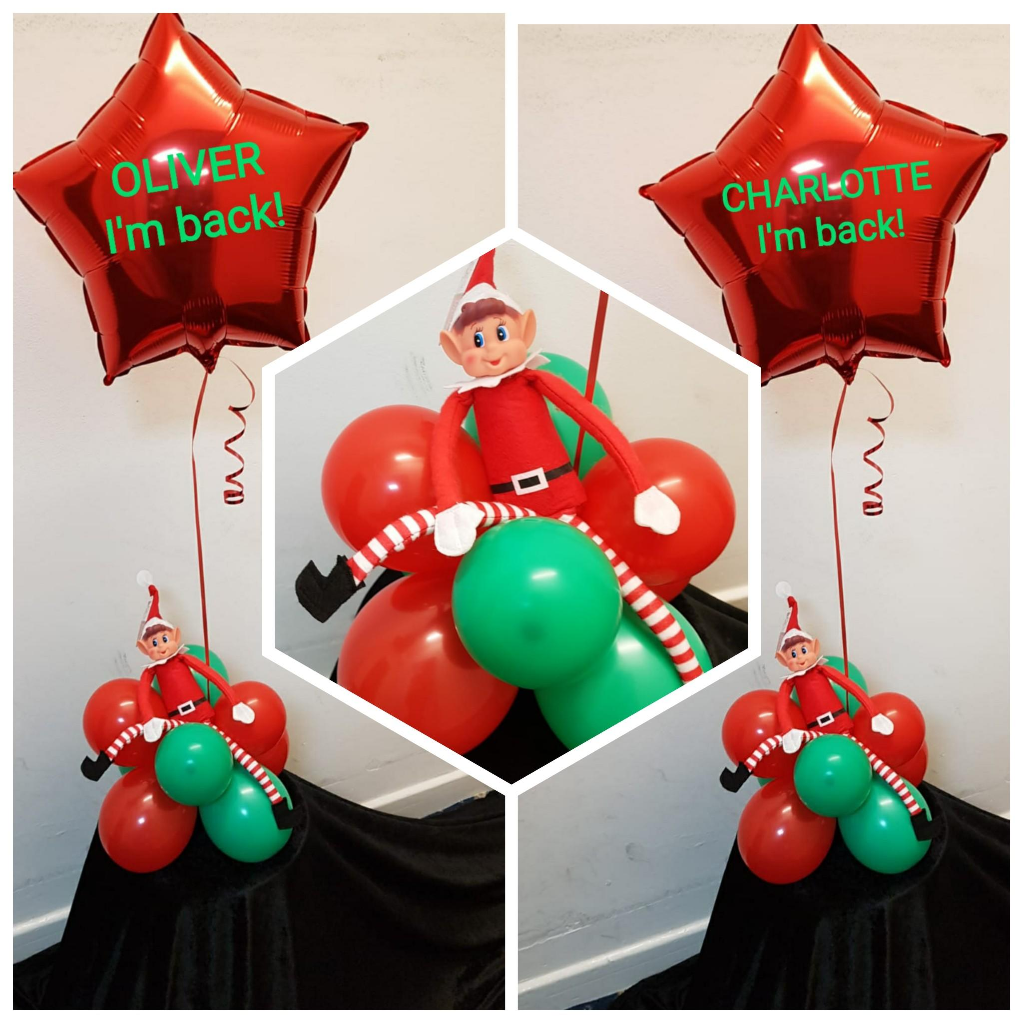 Naughty Elf on a shelf personalised balloon