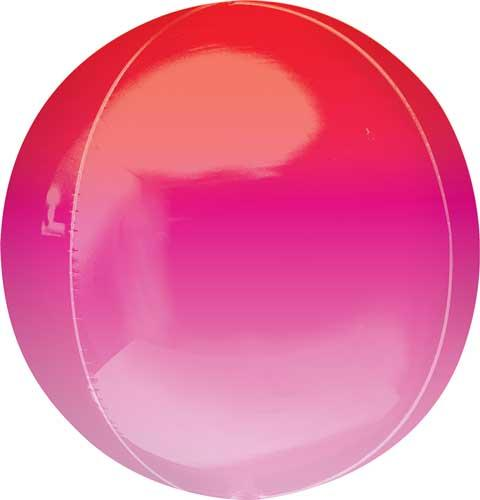 Ombre Orbz Balloon Red, Pink