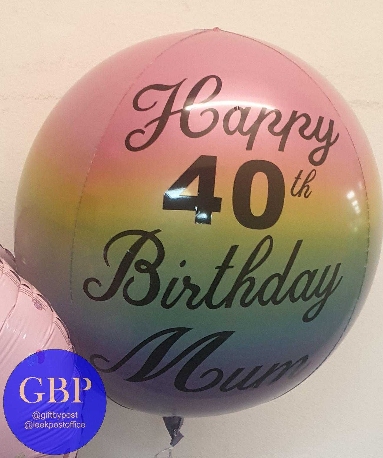 Ombre Orbz Balloon Personalised Pastel
