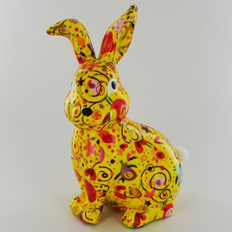 Helena the rabbit money box yellow