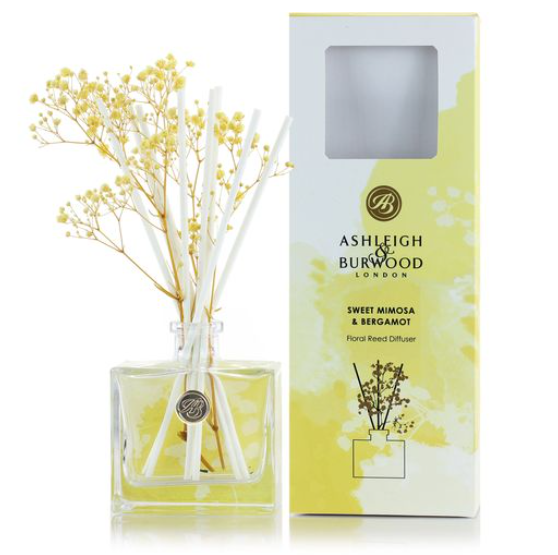 Floral Reed Diffuser - Sweet Mimosa & Bergamot - Ashleigh & Burwood