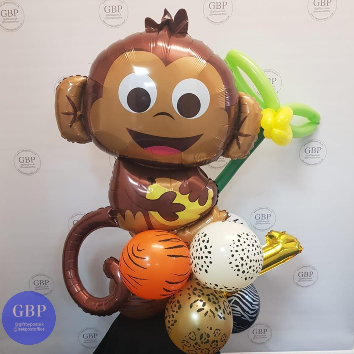 Monkey with Tail balloon on a base