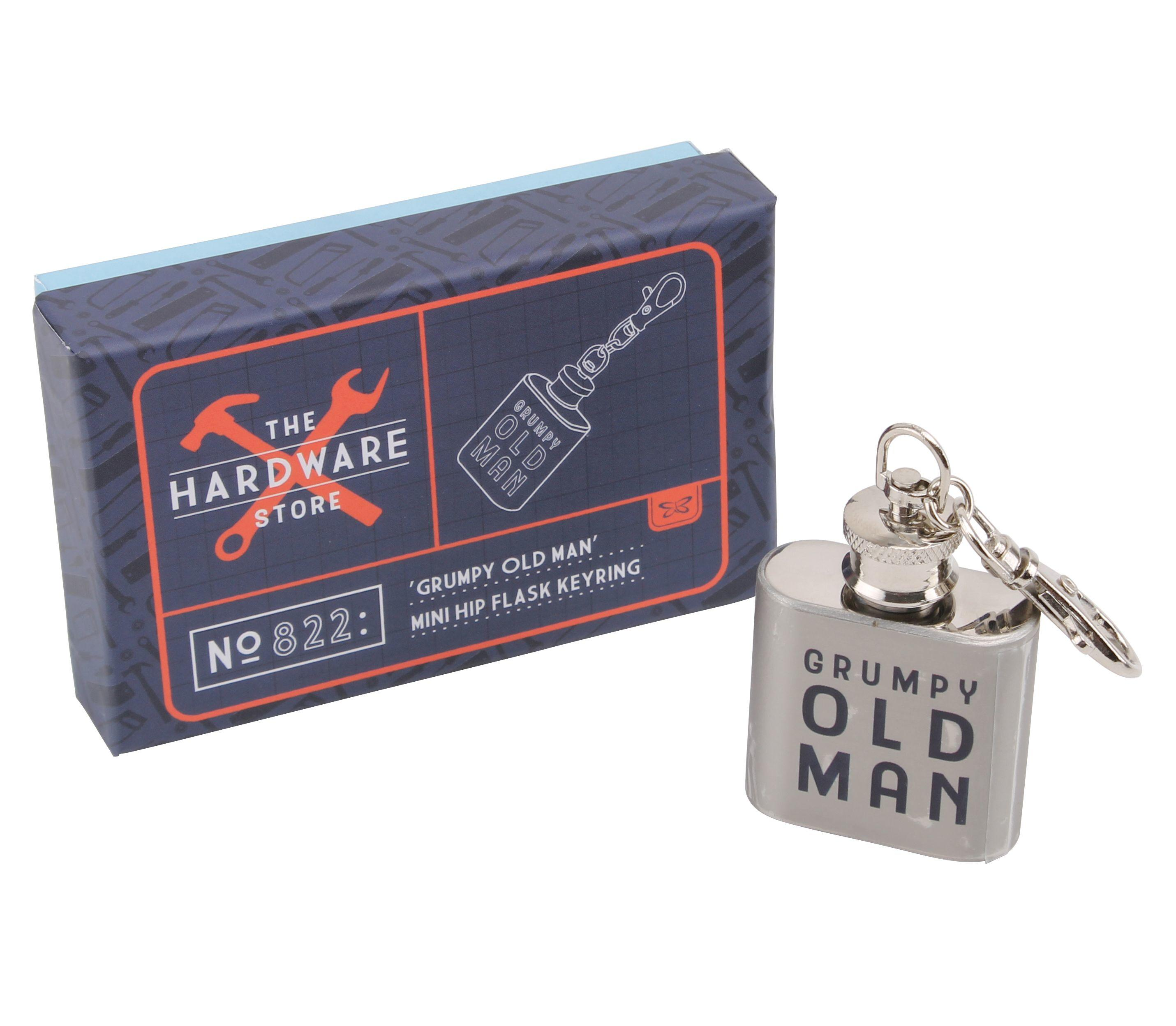 FLASK KEYRING GRUMPY OLD MAN