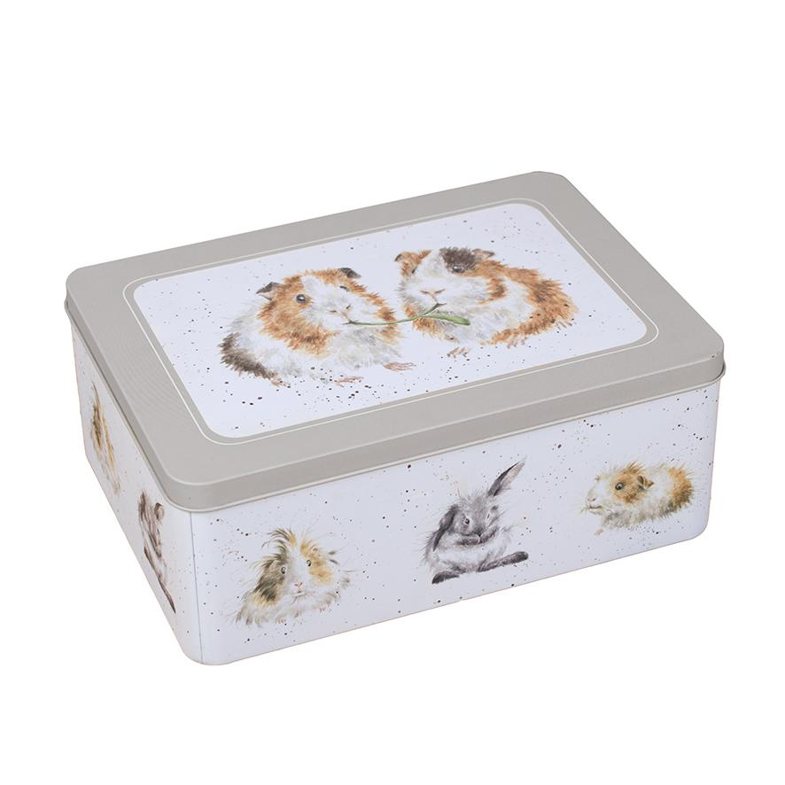 WRENDALE RECTANGULAR TIN - GUINEA PIGS FRONT