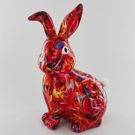 Helena the rabbit money box red