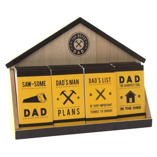 Selection of 4 Dad DIY Notepads