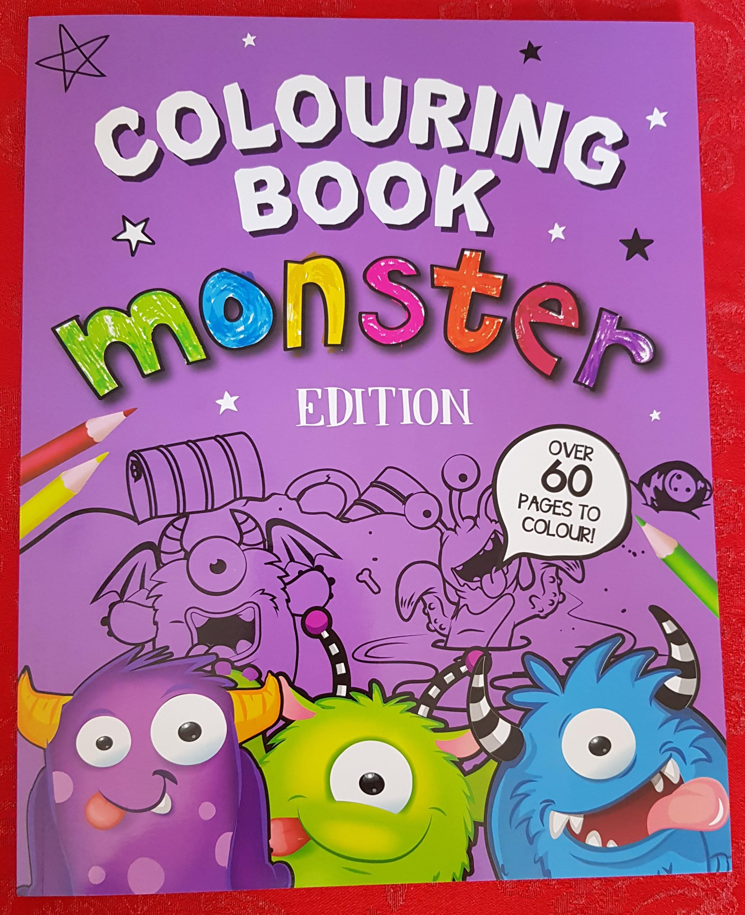 Monster Colouring Book Front Cover