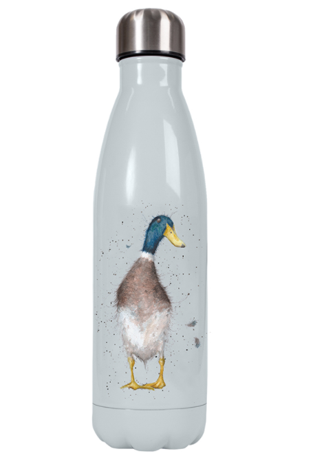 Wrendale Water Bottle and Flask Duck front