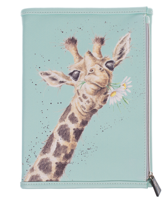 Wrendale Designs Notebook Wallet Zoology Collection Giraffe Front
