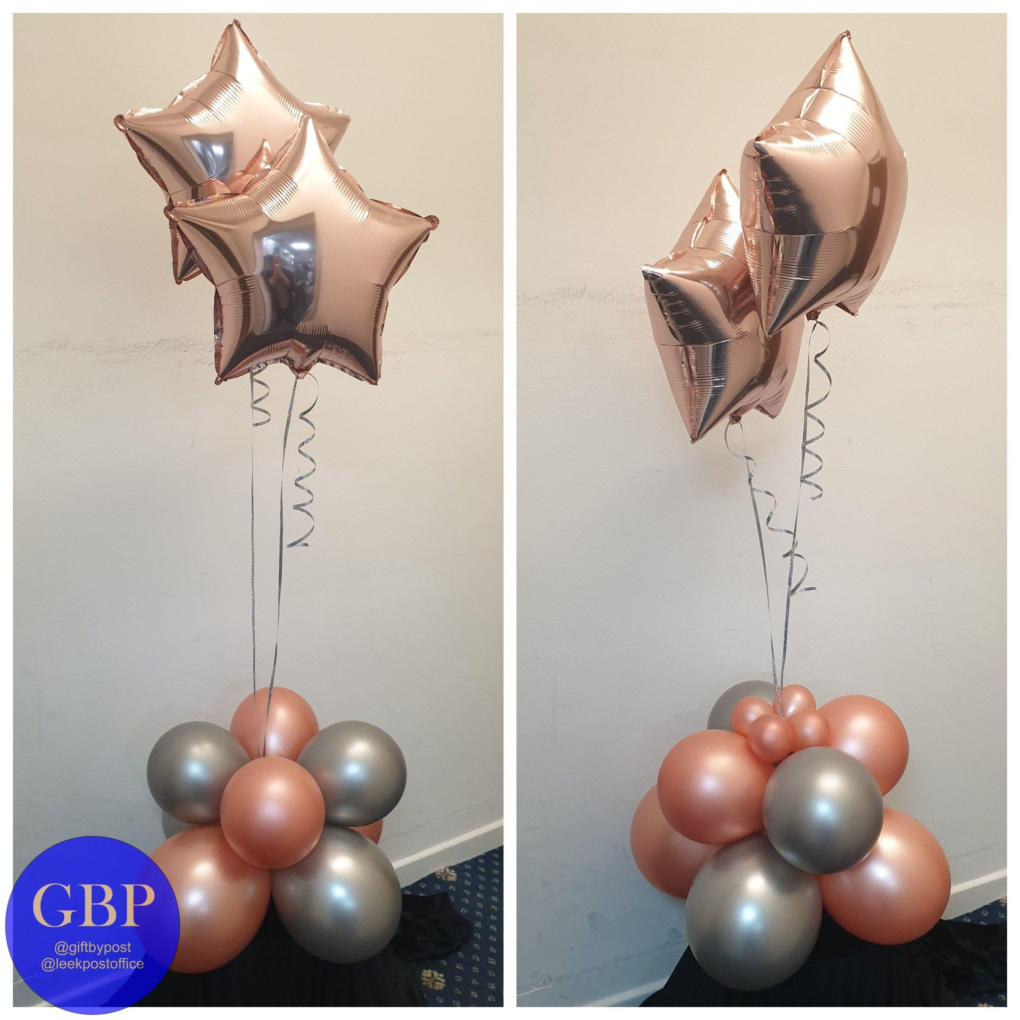 Floor standing balloons with 2 foils